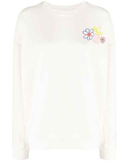 Adidas White Adicolor Essentials Sweatshirt