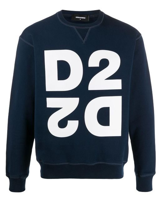 メンズ DSquared² D2 スウェットシャツ Blue
