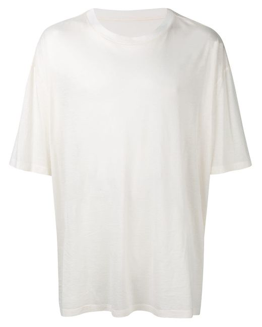 Maison Margiela T-Shirt im Oversized-Look in White für Herren