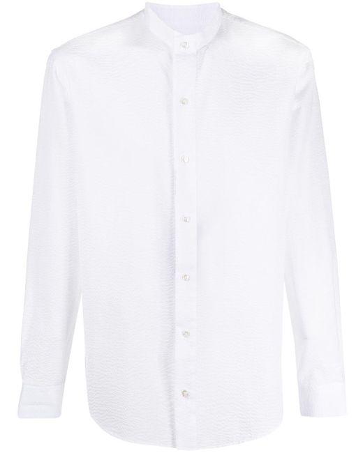 メンズ Giorgio Armani マンダリンカラー シャツ White