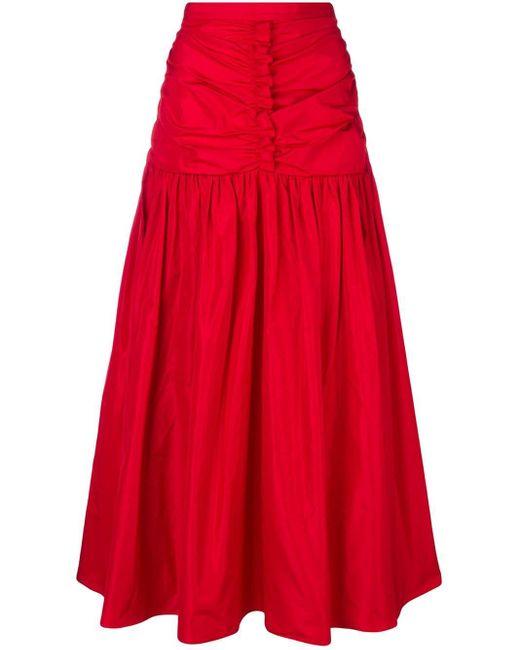 Stella McCartney シャーリング スカート Red