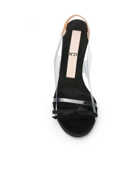 N°21 スリングバック サンダル Black