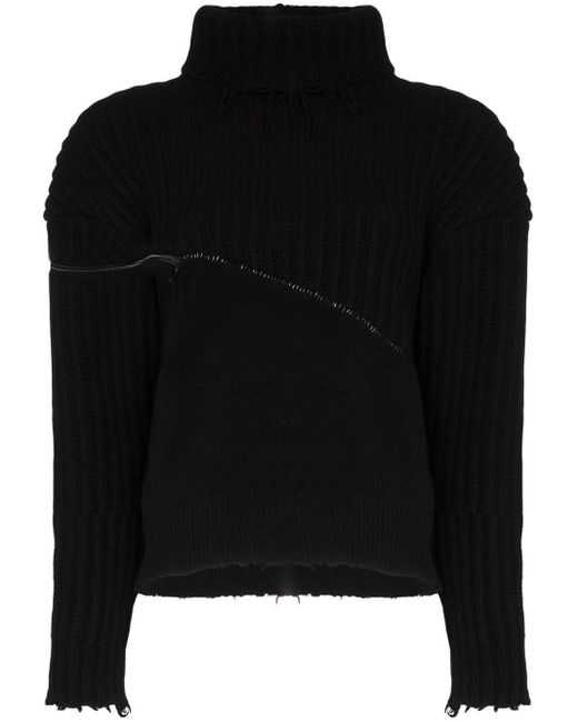 Unravel Project ジップディテール セーター Black