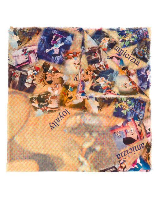 Faliero Sarti ピノキオモチーフ スカーフ Multicolor