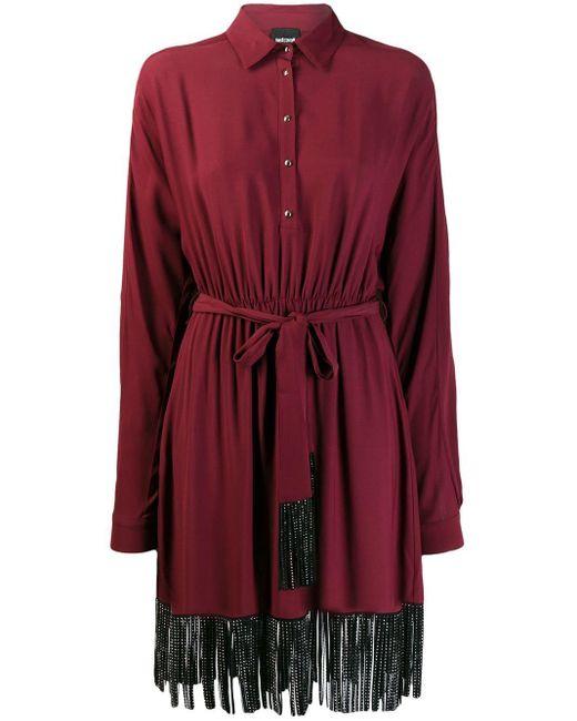 Just Cavalli タッセル ドレス Red