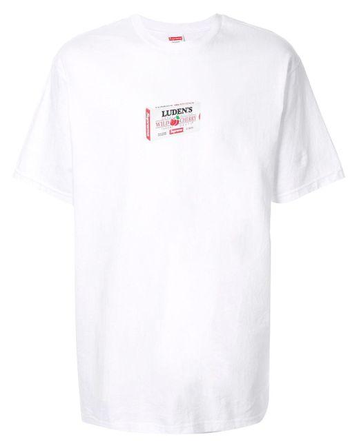 メンズ Supreme Luden's Tシャツ White