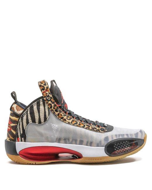 Nike White Air Jordan Xxxiv Tatum Sneakers for men