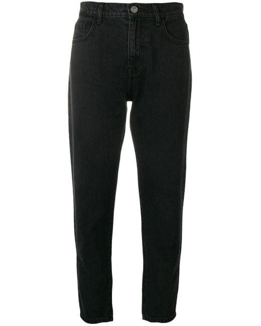 Current/Elliott Cropped Slim Jeans Black