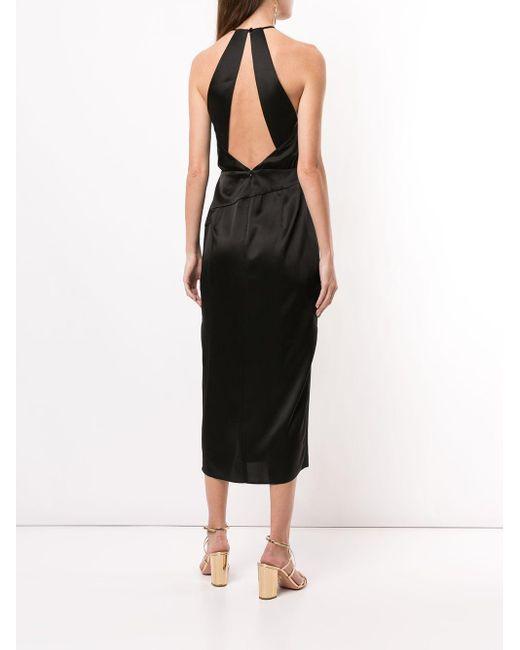 Michelle Mason ホルターネック ドレス Black