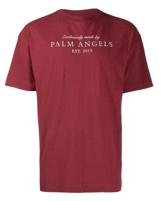 メンズ Palm Angels ロゴ Tシャツ Red