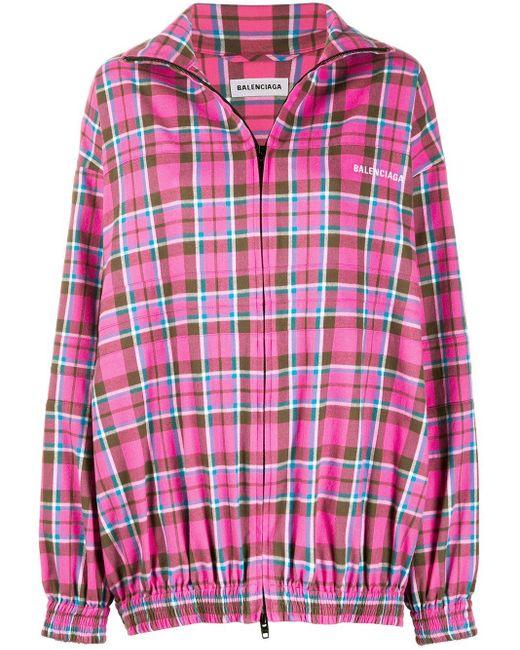 Balenciaga Pink Jacke mit Print