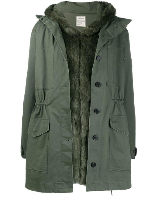Zadig & Voltaire Green Hooded Parka