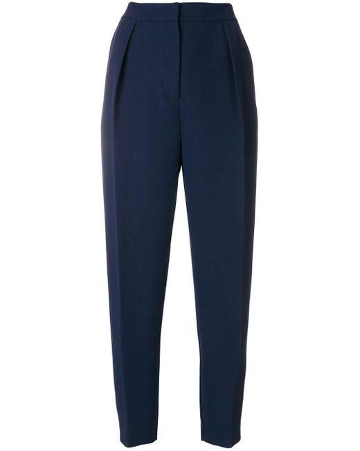 Pantalones de vestir y talle alto Roksanda de color Blue