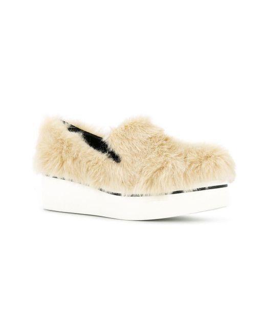 2bb4d6c112b2 ... Stella McCartney - White Platform Loafers - Lyst ...