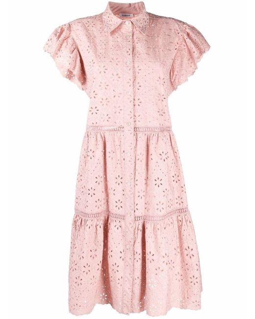 P.A.R.O.S.H. アイレットレース シャツドレス Pink