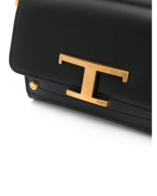 Tod's Tロゴ ハンドバッグ Black