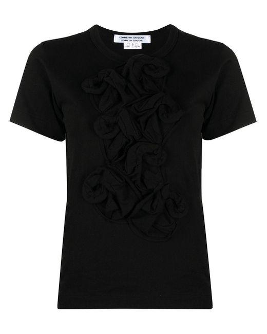 Comme des Garçons フローラル ラッフル Tシャツ Black
