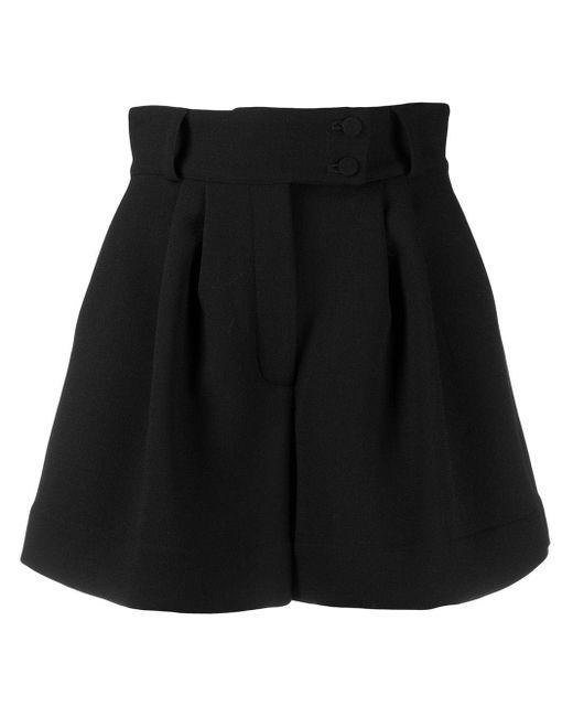 Styland Black High-waisted Wide Leg Shorts