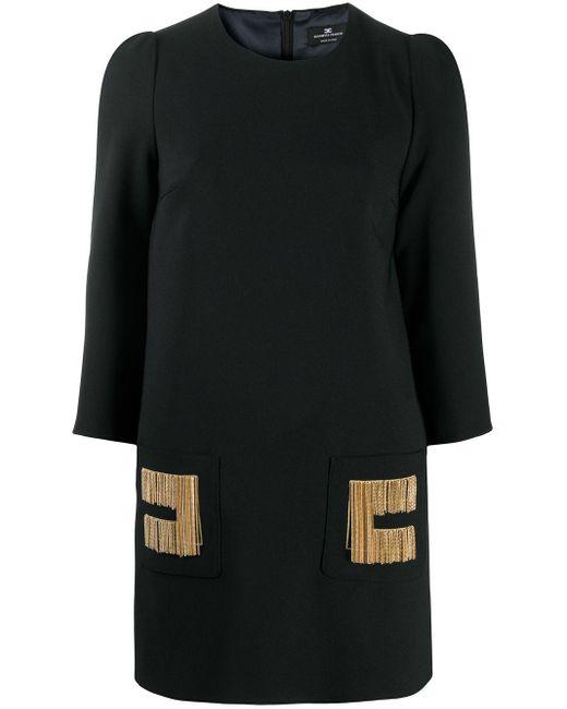 Elisabetta Franchi チェーンリンク シフトドレス Black