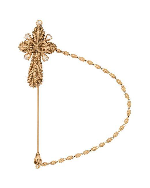 Broche à design de croix Dolce & Gabbana pour homme en coloris Metallic