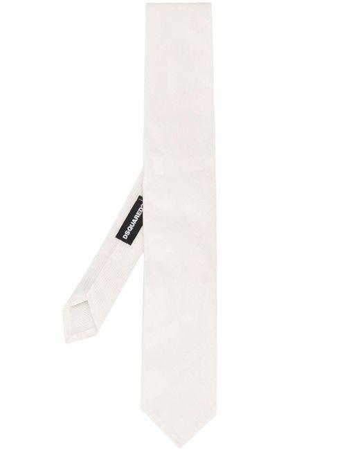 メンズ DSquared² ストライプ ネクタイ White