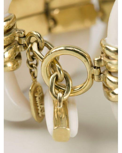 Vaubel White Connected Teeth Bracelet