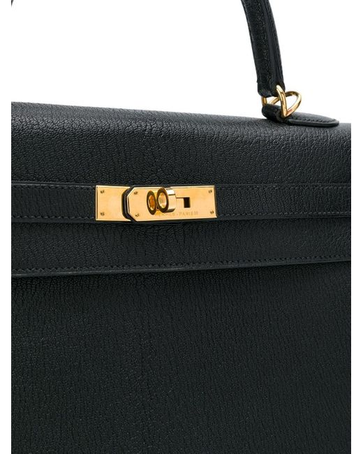 Hermès 2002 プレオウンド ケリー セリエ 35 ハンドバッグ Black