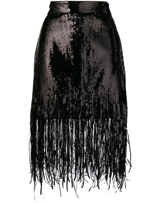 Юбка С Пайетками MSGM, цвет: Black