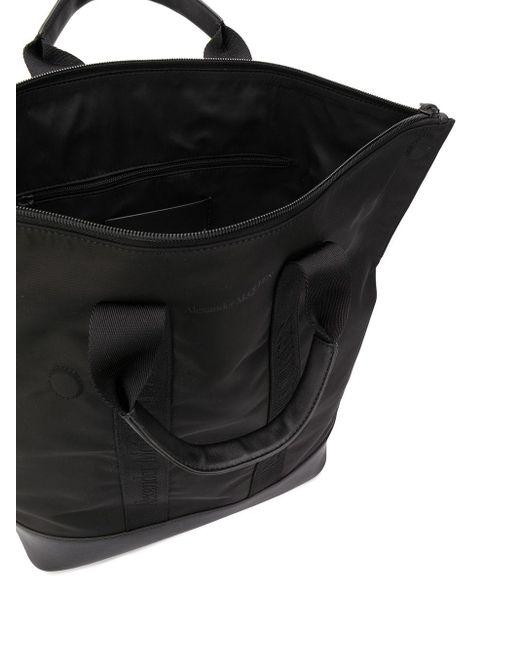 Декорированный Рюкзак Alexander McQueen для него, цвет: Black