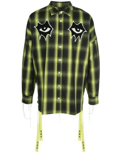 メンズ Haculla Signature Eyes チェックシャツ Green