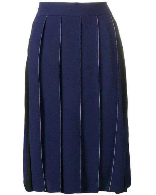 Плиссированная Юбка Goma Marni, цвет: Blue