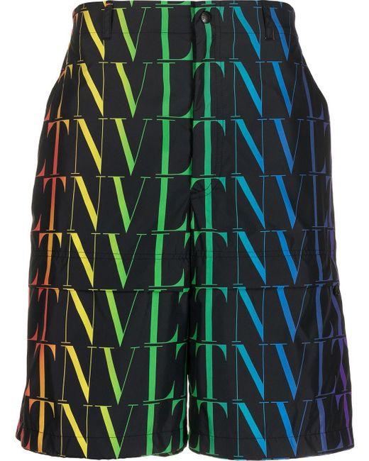 メンズ Valentino Vltn バミューダショーツ Black