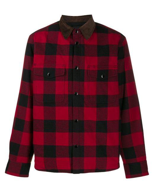 メンズ Rag & Bone チェックシャツ Red