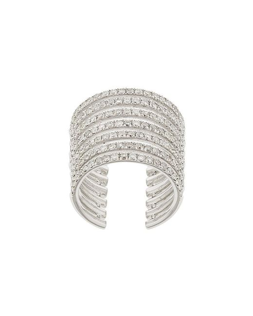 Elise Dray - Metallic Embellished Stack Ring - Lyst