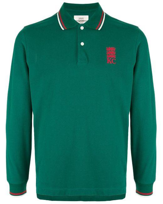 メンズ Kent & Curwen ロングスリーブ ポロシャツ Green