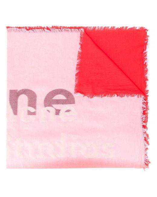 Acne ロゴ スカーフ Pink