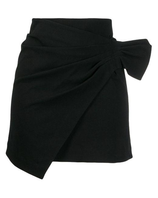 Minigonna drappeggiata Lyuba di Isabel Marant in Black
