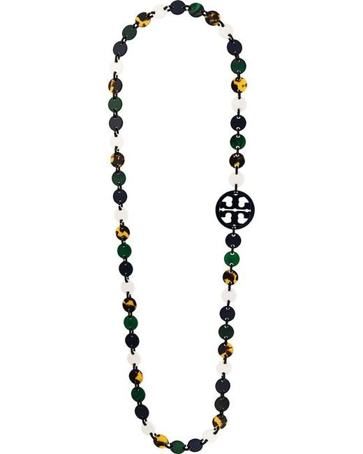Tory Burch | Multicolor Flat Beaded Necklace | Lyst