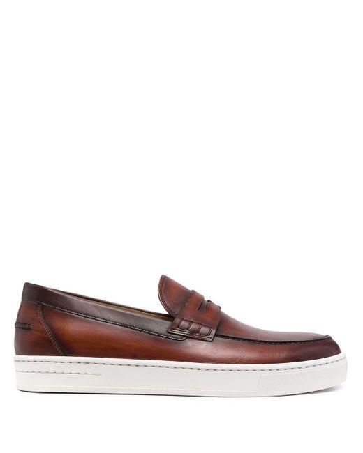 メンズ Magnanni Shoes フラットフォーム ローファー Brown