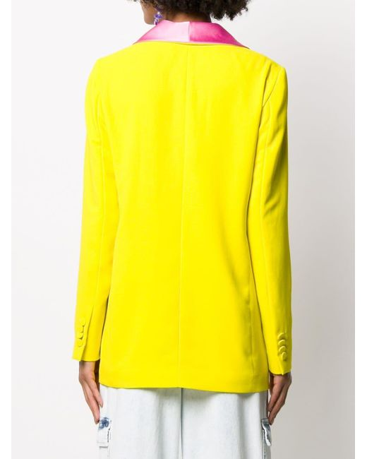 MSGM コントラストラペル ジャケット Yellow
