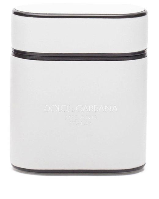 Чехол Для Airpods С Логотипом Dolce & Gabbana для него, цвет: White