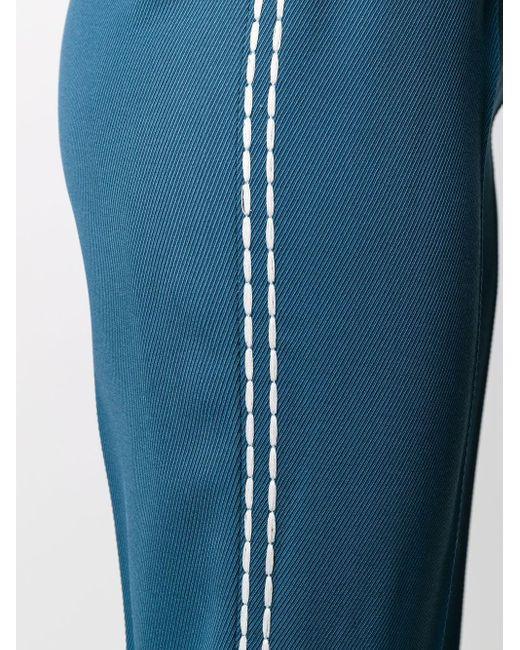 Брюки Прямого Кроя С Контрастной Строчкой Fendi, цвет: Blue