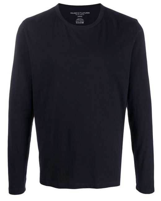 メンズ Majestic Filatures ロングtシャツ Blue