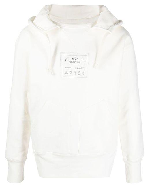 Maison Margiela White 1côn-print Hoodie for men