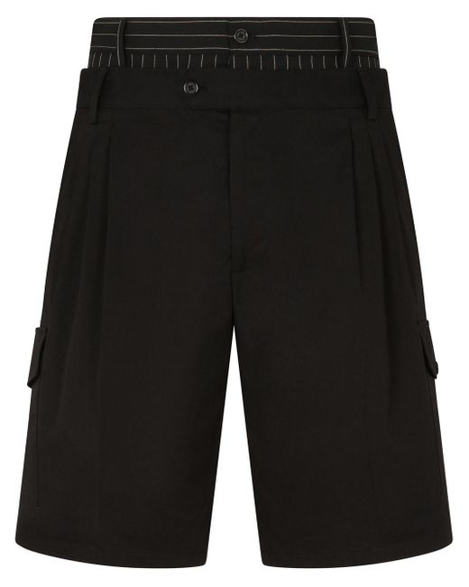 Двухслойные Шорты Карго Dolce & Gabbana для него, цвет: Black