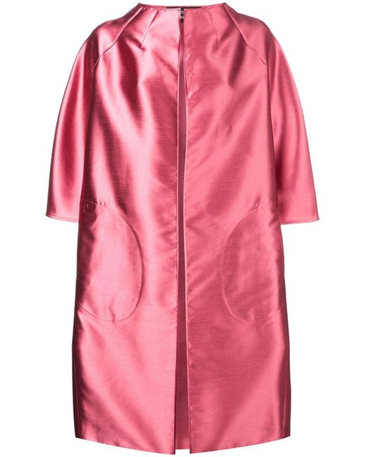 Gianluca Capannolo Pink A-line Coat