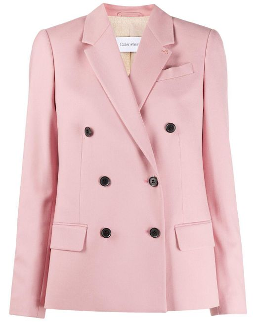 Calvin Klein ダブルジャケット Pink