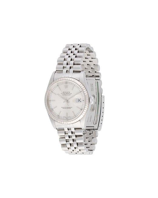 Наручные Часы Oyster Perpetual Datejust 35 Мм Pre-owned Rolex для него, цвет: Metallic