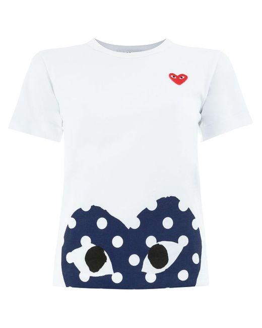 COMME DES GARÇONS PLAY ハートロゴ Tシャツ White