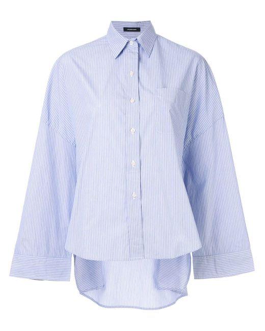 R13 オーバーサイズ シャツ Blue